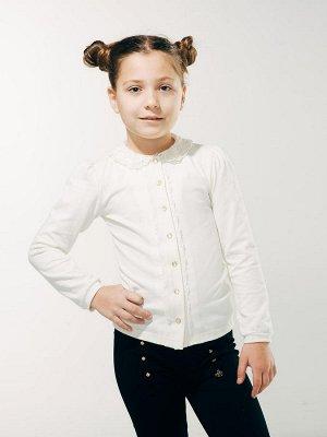 Блуза распашная с вязаным воротником