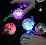Светодиодный мяч на резинке цвет: БЕЗ ВЫБОРА ЦВЕТА