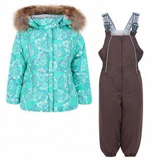 Комплект (куртка- полукомбинезон с натуральной опушкой)