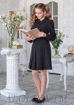 Платье школьное РЕТРО, цвет черный. РАСПРОДАЖА!