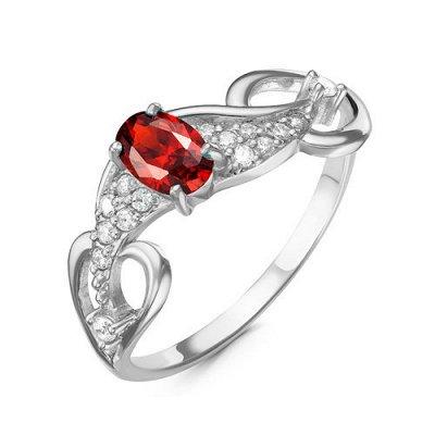 Артефакт -58. Стильные украшения . — Кольца с фианитами цвета гранат. — Ювелирные кольца