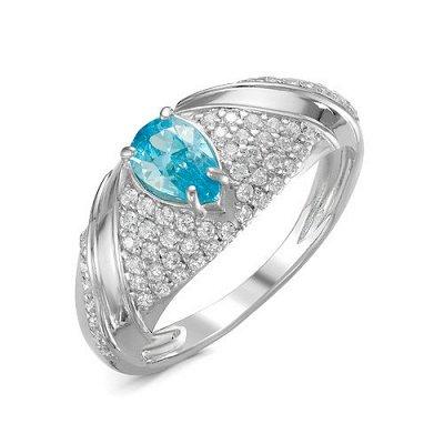 Артефакт -58. Стильные украшения . — Кольца с голубыми фианитами. — Ювелирные кольца