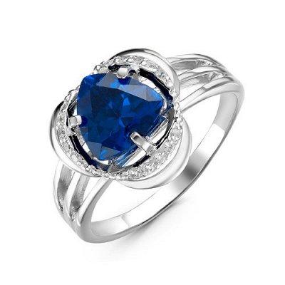 Артефакт -58. Стильные украшения . — Кольца фианитами синего цвета — Ювелирные кольца