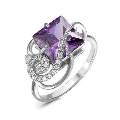 Артефакт -58. Стильные украшения . — Кольца с фианитами фиолетового цвета — Ювелирные кольца