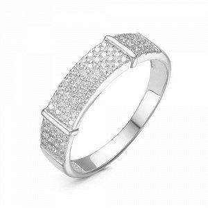 Серебряное кольцо с бесцветными фианитами 083