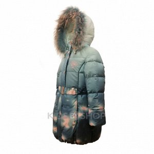 "BILEMI,  зимнее пальто ""Бант"" голубой 104, 116"