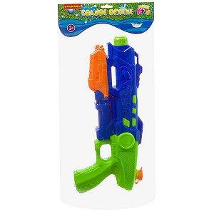 """Водный пистолет с помпой Bondibon """"Наше Лето"""", РАС 21,5х43,5х5,5 см, сине-зелёный, арт.1755А."""