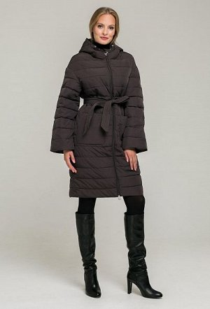 Пуховик TRUFEL(коричневый) Свободное пальто с капюшоном, идеально подходит для носки в не особо холодные зимние дни. Данная модель оснащена удобными крупными карманами и двусторонней молнией. Пальто в