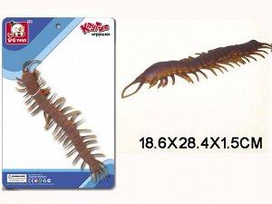 """SR6328-197 Резиновые животные """"Сороконожка""""(на картоне)"""