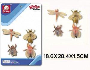 SR6328-143 Резиновые насекомые,4шт(на картоне)