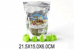 HT720-11 Кинетический песок с формочками(4шт)в пакете