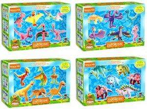 2209 Набор динозавров(6шт)5 видов в ассортименте в коро
