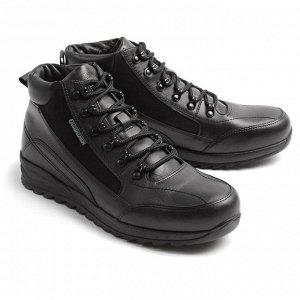 Ботинки зимние мужские, черный