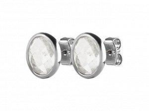 Серьги RENITA Коллекция ALGAE Покрытие Блестящее Серебро Цвет Белый