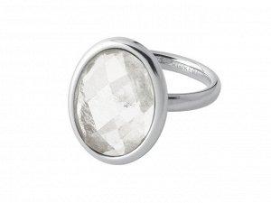 Кольцо RHODA Коллекция ALGAE Покрытие Блестящее Серебро Цвет Белый