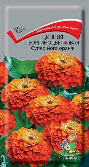 Цинния Георгиноцветковая Супер йога оранж