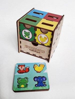 Комодик-куб «Животные», 119107