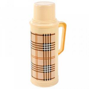 """Термос пластмассовый корпус, узкое горло """"Шотландка"""", с ручкой, стеклянная колба 2л (Китай)"""