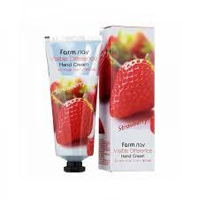 Farm Stay Visible difference hand cream strawberry Крем для рук с экстрактом клубники 100 мл