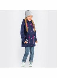 Куртка-парка с пристежкой для девочки