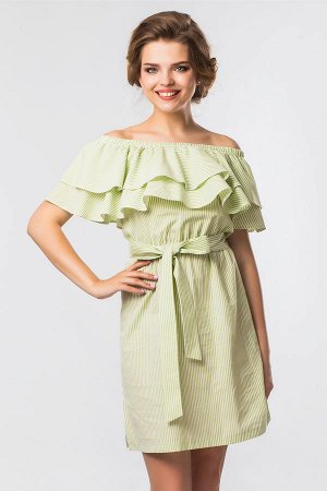 Зеленое платье в полоску GARDA