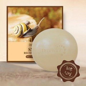 Восстанавливающее мыло с муцином улитки DEOPROCE Snail Recovery Soap, 100г