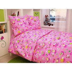 Детский комплект в кроватку Овечки, цвет розовый 317-2
