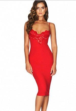Продам отличное красное бандажное платье (Luxury) S. Качество супер. Не угадала с размером.