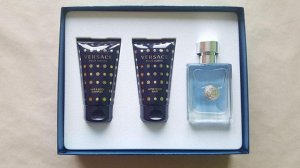 Набор Versace Pour Homme edt 50 ml + After Shave Balm 50 ml + Hair & Body Shampoo 50 ml