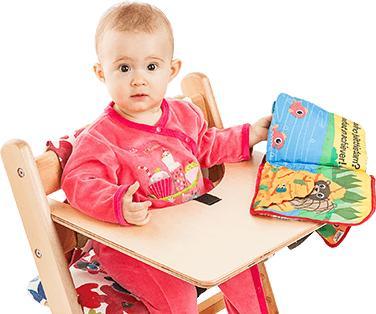 Натуральный массив березы. СТУЛ KID-FIX от 6 мес до 16 лет 👍 — Стульчики, столик и ремешок, комплект подушек — Столы и стулья