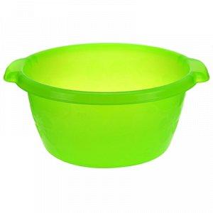 Таз пластмассовый 9,5л, д34см, h16см, зеленый (Россия)