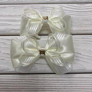 Резинка Белый + белый прозрачный + белый полоска