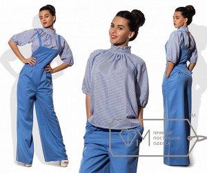 Блуза полосатая коттоновая. Можно беременной