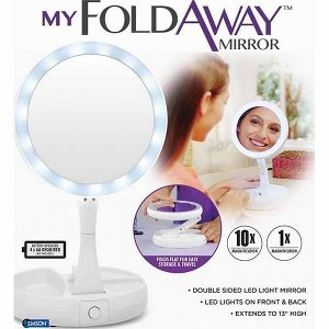 Косметическое настольное зеркало с подсветкой MY FOLDAWAY MIRROR