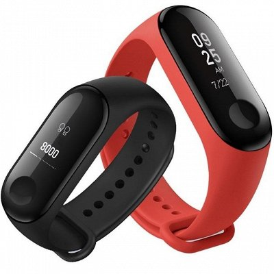 В наличии-34 электроника, аксессуары, бытовая техника и пр.  — Фитнес браслет трекер Xiaomi Mi Band 3 — Для телефонов