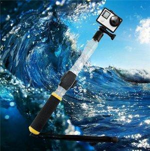 Монопод для экшн камер Плавающий прозрачный Aquapod с креплением для пульта