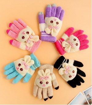 Перчатки для сенсорных экранов телефонов Magic Gloves Зайчики