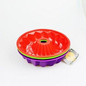 Форма силиконовая, 12,5х5,5см, фиолетовая