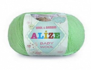 Пряжа Alize baby цвет Изумруд 7 мотков!