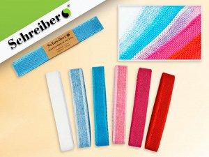 Декоративая тесьма, материал- текстиль,2,5 см х 2,7 м., 6 цветов в ассортименте