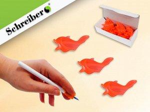 Рыбка-тренажер для постановки письма, ОРАНЖЕВЫЙ цвет, 25 шт, производство РОССИЯ