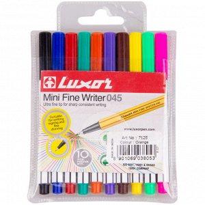 """Набор капиллярных ручек Luxor """"Mini Fine Writer 045"""" 10цв., 0,8мм, европодвес"""