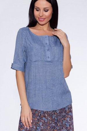 #22009 Блузка Джинсовый