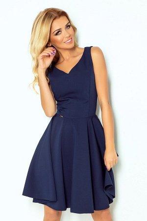 Платье NUMOCO 114-7  Платье-клёш с декольте в форме сердца. Состав: полиэстер 95%, эластан 5%