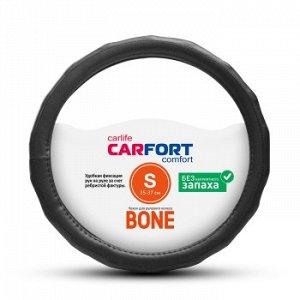 Оплетка CarFort Bone, рельефные ребра, черная, S (1/25) CS4161