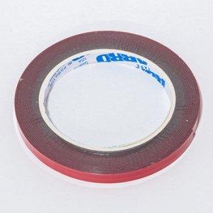 Лента клейкая двухсторонняя ABRO красная премиум 10мм-5м (1/50)