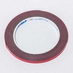 Лента клейкая двухсторонняя ABRO красная премиум 6мм-5м (1/100)