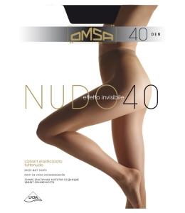 Колготки Тонкие гладкие колготки OMSA Nudo 40 с лайкрой, с ластовицей, мягким ремешком и незаметным усиленным носком.Состав: Эластан 12%, Полиамид 88%