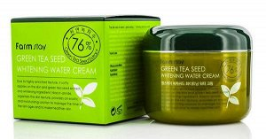 Farm Stay Green Tea Seed Whitening Water Cream - Увлажняющий крем с экстрактом зеленого чая 76% 100мл
