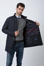 Демисезонная мужская куртка Hermzi с ПОТАЙНЫМ КАПЮШОНОМ, цвет Темно-синий  Deep Navy